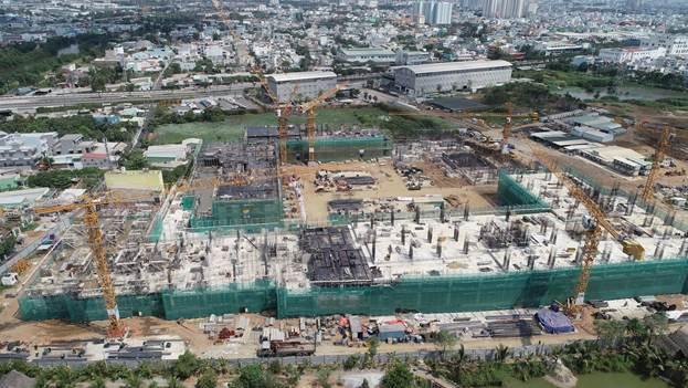 Công trình thi công dự án Akari City.
